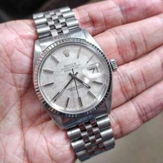 Vintage Rolex 16014 linen dial with original bracelet