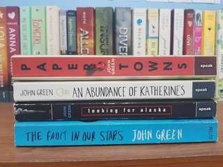 Pre-loved John Green Books
