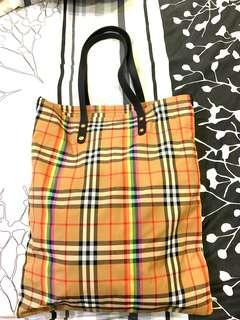 Burberry Rainbow Vintage shopper tote Bag