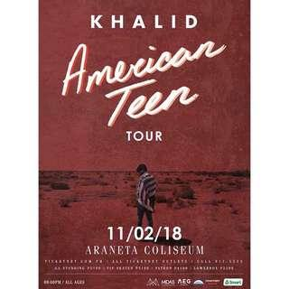 VIP TICKET: Khalid American Teen Tour Manila