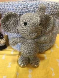 🚚 Handmade crochet new cute elephant