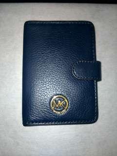 New Authentic MK Michael Kors Passport Holder Blue