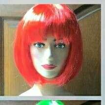 Wig Cosplay Merah untuk Halloween