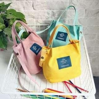 Mini Canvas Sling Bag Korean Style