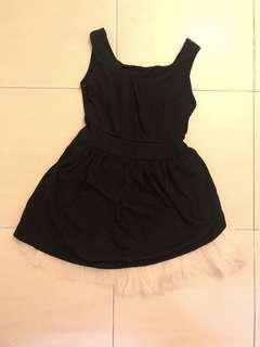 Little black mesh dress