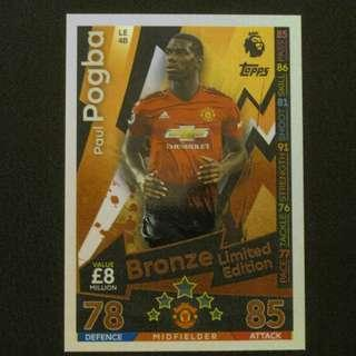 18/19 Match Attax Bronze Limited Edition - Paul POGBA #Manchester United
