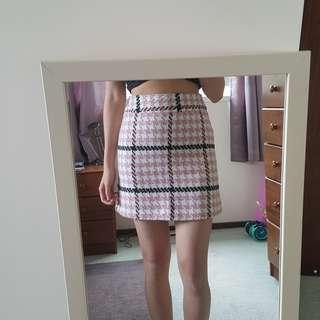 TOPSHOP Checkerboard Skirt