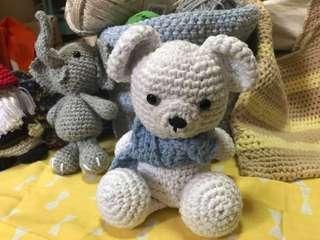 🚚 Handmade crochet new cute bear
