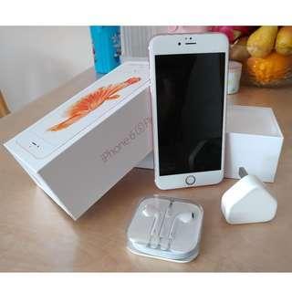 iPhone 6S Plus 128G Rose Gold 玫瑰金 連全新耳機