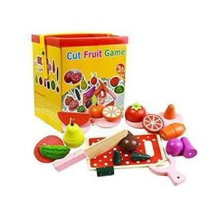 Wooden Cut Fruit Game