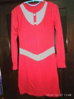 Long sleeves blouse red