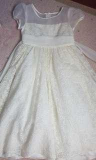 Girls Off White Wedding Dress