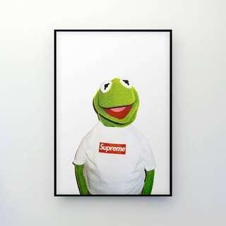 Supreme Kermit Poster Large