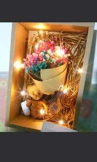 Mini led baby breaths bouquet set