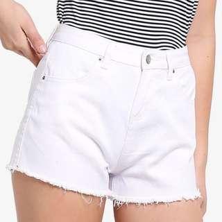 ZALORA Basic High Rise Denim Shorts