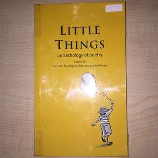 🚚 little things an anthology of poetry