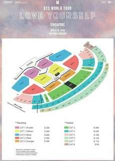 LOOKING FOR: BTS LOVE YOURSELF WORLD TOUR IN SG TIX