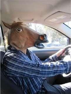 Latex horse mask animal mask
