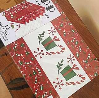 12Piece Set Christmas Table And Cup Mat
