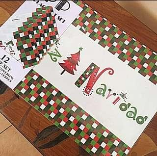 Christmas Table And Cup Mat 12Piece Set