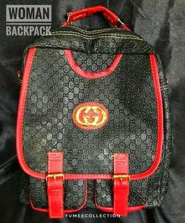 Ransel / woman Backpack Black Red
