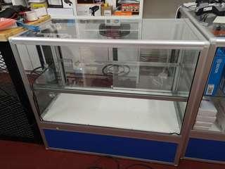 1m x 0.5m x 0.9m Glass display cabinet