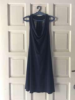 Midnight dark blue cocktail party dress