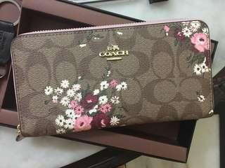 Ready stock: Coach accordion Signature long wallet