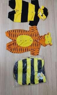 Halloween Costume - 1 to 3yr old - Tiger, Superman