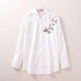 READY STOCK Embroidery Plain Shirt