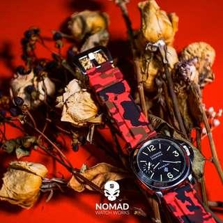 🚚 V3 Silicone Strap in Red Camo (available in 22 and 24mm)