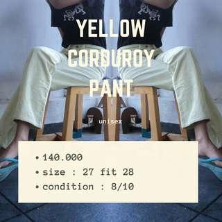 Yellow Corduroy Pant🍒