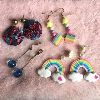 kawaii cute earrings