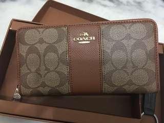 Ready stock: Coach signature saddle lady accordion wallet
