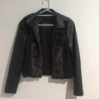 Wish Australia Faux Leather & Fur Jacket