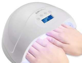 48w Sun5s Extra Large 2 Hands LedUV Nail Lamp for Gelish Gel Polish Manicure LCD Timer Display