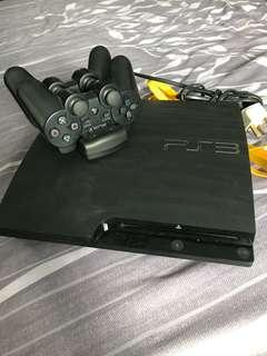 Sony Playstation 3 with 2 wireless control FREE HDMI cable+3 ori games PS3