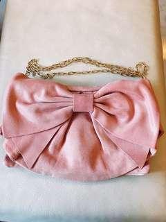 RED VALENTINO 粉色蝴蝶結小包