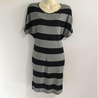 French Connection Black & White Dress XS
