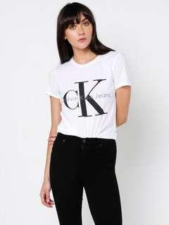 Calvin Klein white logo t-shirt/ brand new with tags/ size small
