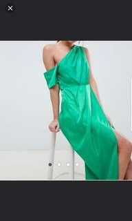 One shoulder Toga Maxi Dress