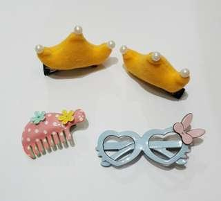 IMPORT Korea: Hairclip Anak Buy 1 Get 4
