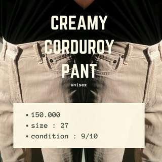 Creamy Corduroy Pant HARGA TURUN