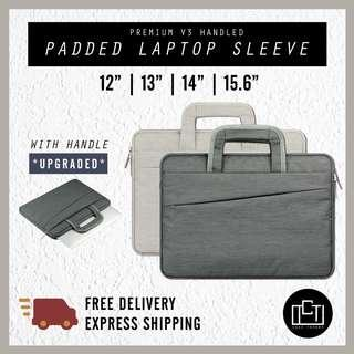 🚚 🔅cT🔅 V3 HANDLED Laptop case laptop casing laptop sleeve for all laptop brands waterproof casing