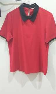 Red Collar Blouse