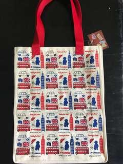 Tote Bag Paddington Bear London Love London Tote Bag Shopping Recycle Red