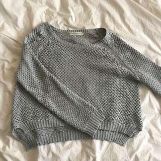 Cropped grey jumper