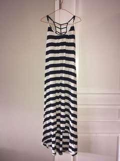 Maxi Dress Salur Garis