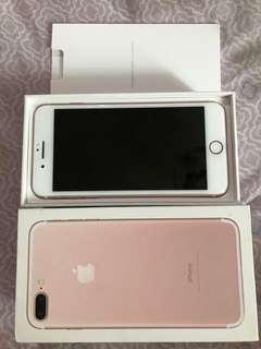 Iphone 7 plus 128gb rosegold, ex inter