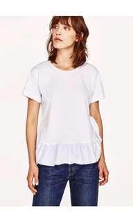 Zara ruffled T-shirt